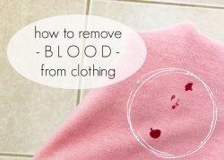 Πώς να αφαιρέσετε το αίμα από τα ρούχα