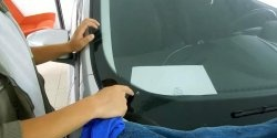 How to close a crack on a car windshield
