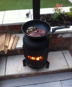 Мини печка на газов цилиндър