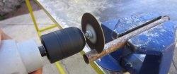Накрайник за рязане на бормашина от диск на мелница