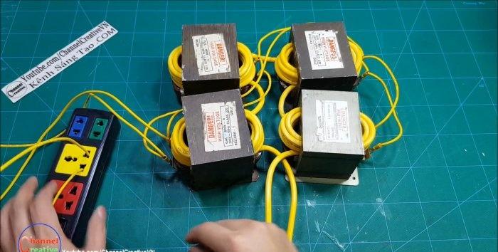 Patru aparat de sudat cu microunde