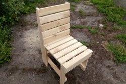 Направи си дървен градински стол