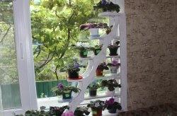 Направи си дървен рафт за цветя