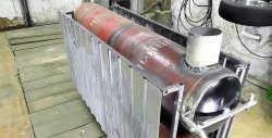 Газова бутилка за отопление на дървена основа