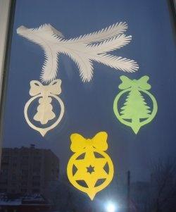 Yılbaşı vitrin dekorasyonu