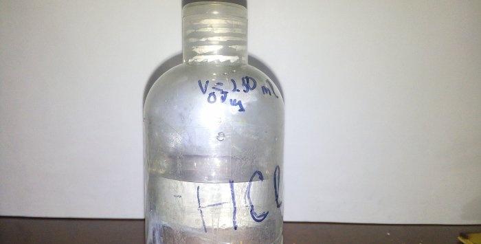 Obținerea acidului clorhidric acasă