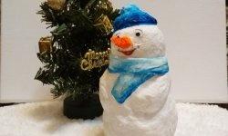 Om de zăpadă din lână de bumbac