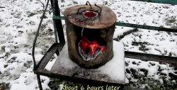 Super-brændeovn brænder i mere end 6 timer