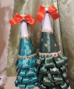 Noel ağacı elbiseli şampanya