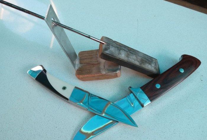 Proste narzędzie do ostrzenia noży pod stałym kątem