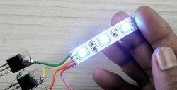 Cel mai simplu controlor pentru banda RGB cu trei tranzistoare