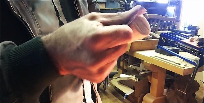 Fazendo uma nova alça para um martelo
