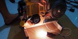 Jak zrobić generator 220 V z silnika trymera