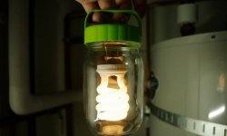 Lanterna DIY no banco