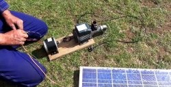 How to make a solar-powered pump for watering a garden