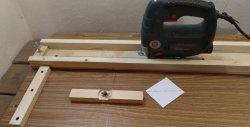 Base de serra de vaivém caseira - cortador perfeito