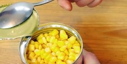 How to open a tin can with a spoon
