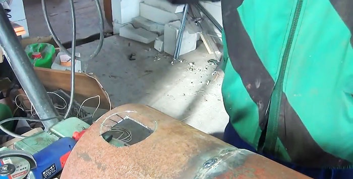 How to cut a flat hole with a grinder