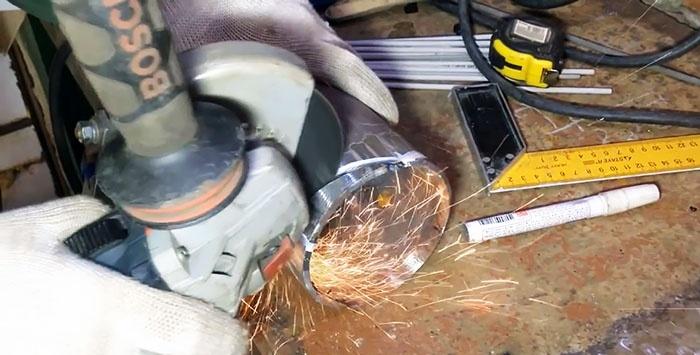 Metoda gulerului de sudare a inserției conductelor de diferite diametre