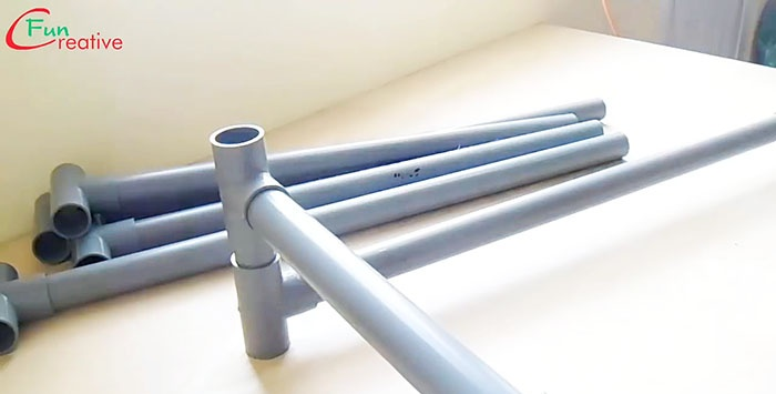 How to quickly make a PVC pipe desktop
