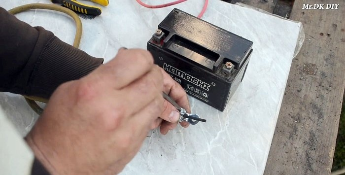 12 volt fusion splicer for thin metal welding