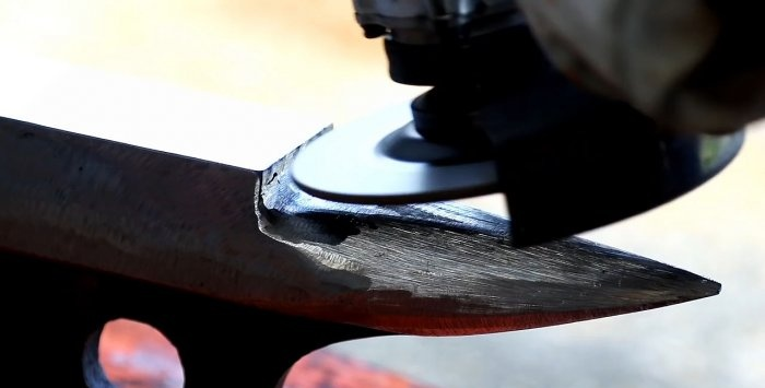 How to make an anvil from an old piece of rail