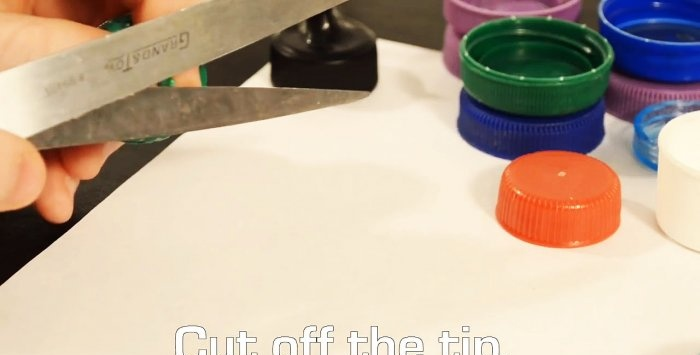 How to make a dispenser nozzle out of a plastic bottle cap and use cases