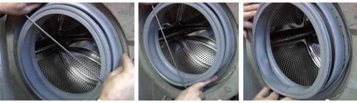 Как да поставите маншет на пералня на резервоар