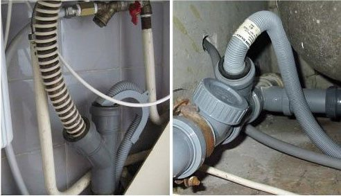 Свързване на пералнята към канализацията