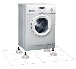 Vi velger støtter til bena på vaskemaskinen - antivibrasjoner, støtdempende, gummi