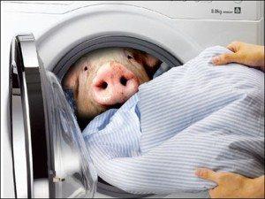 Мирише на пералнята воня