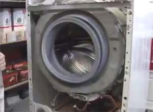Mesin basuh yang disassembled