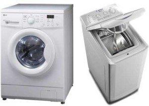 Предно и вертикално зареждане на пералнята