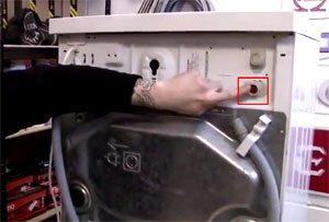 Клапан за пералнята, където се намира