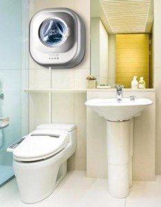 Тоалетна перална машина, монтирана на стена