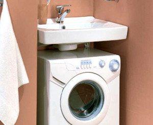 Memasang mesin basuh di bawah sinki - petua