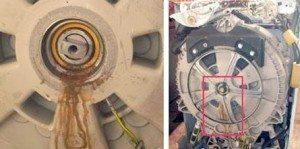 olajtömítés kopása a mosógépben