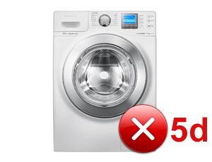 Какво означава грешка 5d на пералня Samsung?
