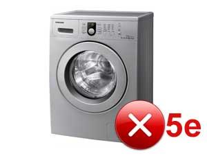 Грешка 5E (SE) в пералнята на Samsung