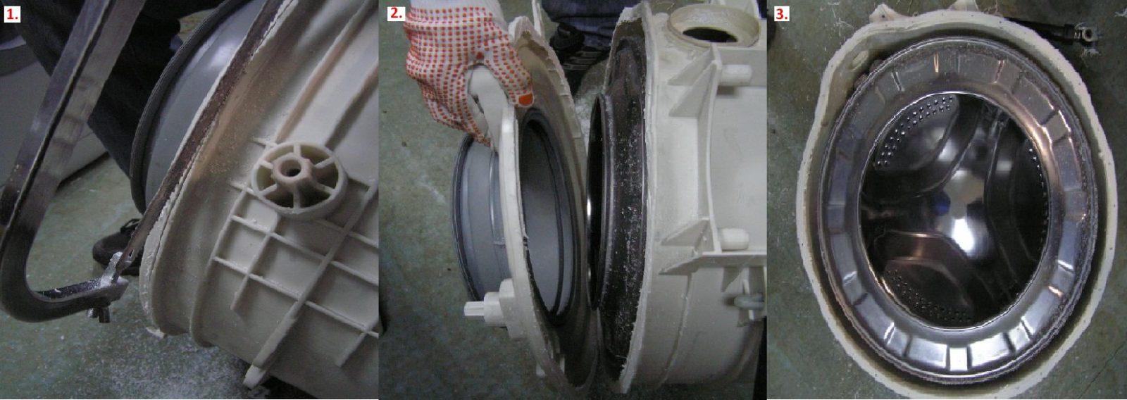 Разбиване на резервоара на пералнята