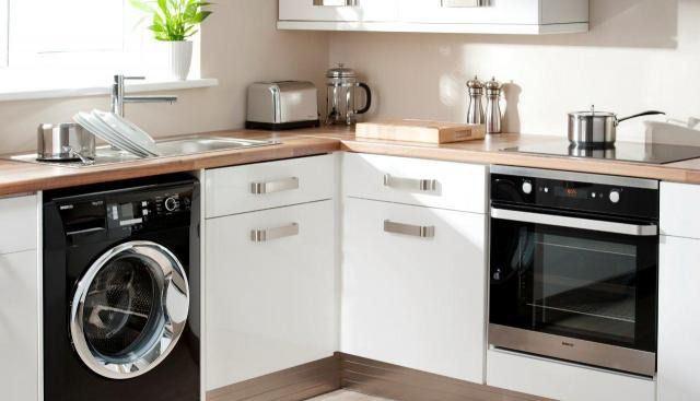 So integrieren Sie eine Waschmaschine in Küche und Bad