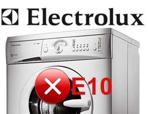 Код за грешка E10 на пералнята Electrolux