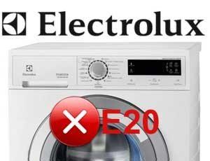 грешка E20 в машината Electrolux