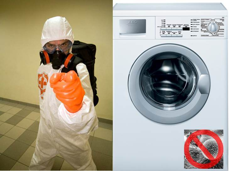 Desinfektion einer Waschmaschine zu Hause
