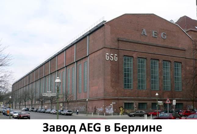 AEG фабрика