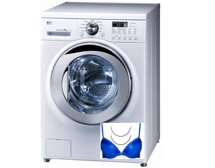 Der Knochen vom BH kam in die Waschmaschine