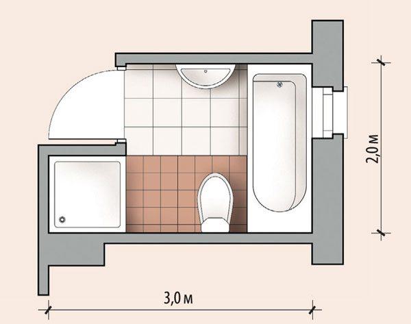 пералня в ниша за баня