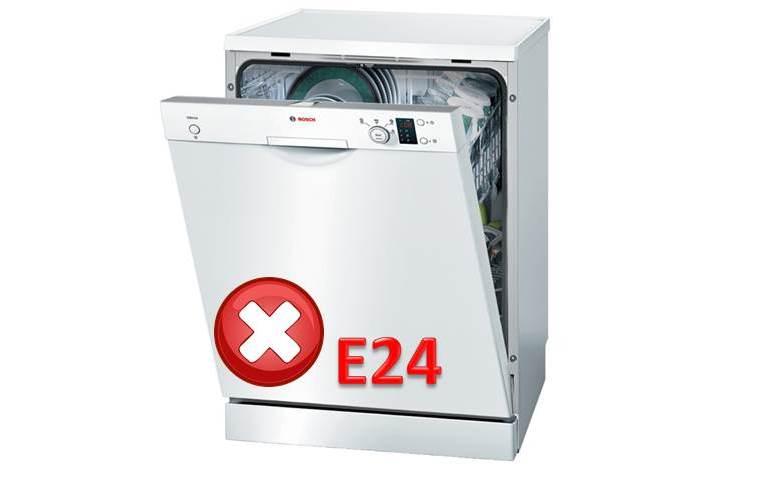 Грешка E24 в съдомиялна машина на Bosch