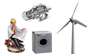 Generator vjetra iz motora perilice rublja