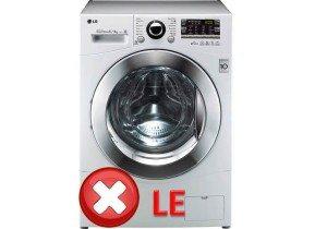 DTC LE и 1E на пералнята на LG